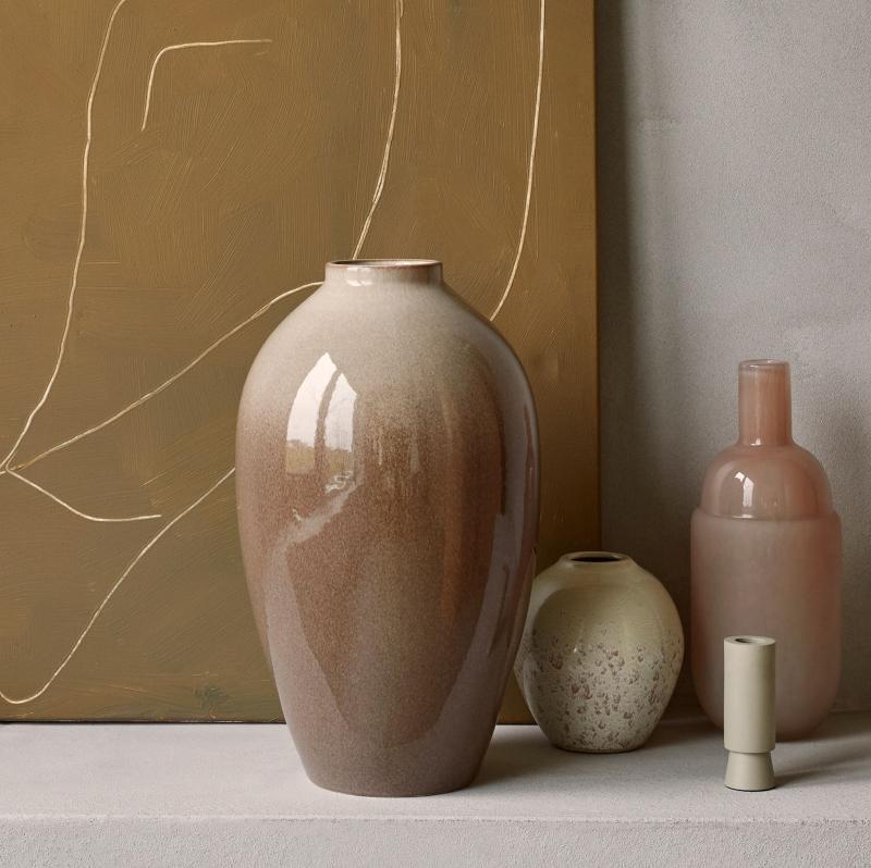 Broste Copenhagen Vase Hoehe 40 cm Ingrid taupe