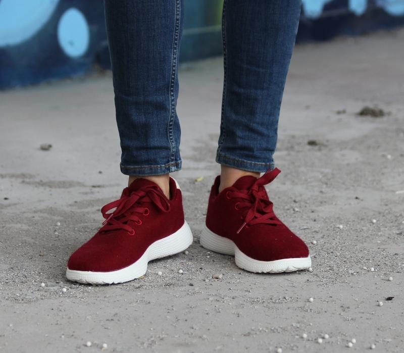Egos Copenhagen Damen Sneaker Merinowolle filzschuhe