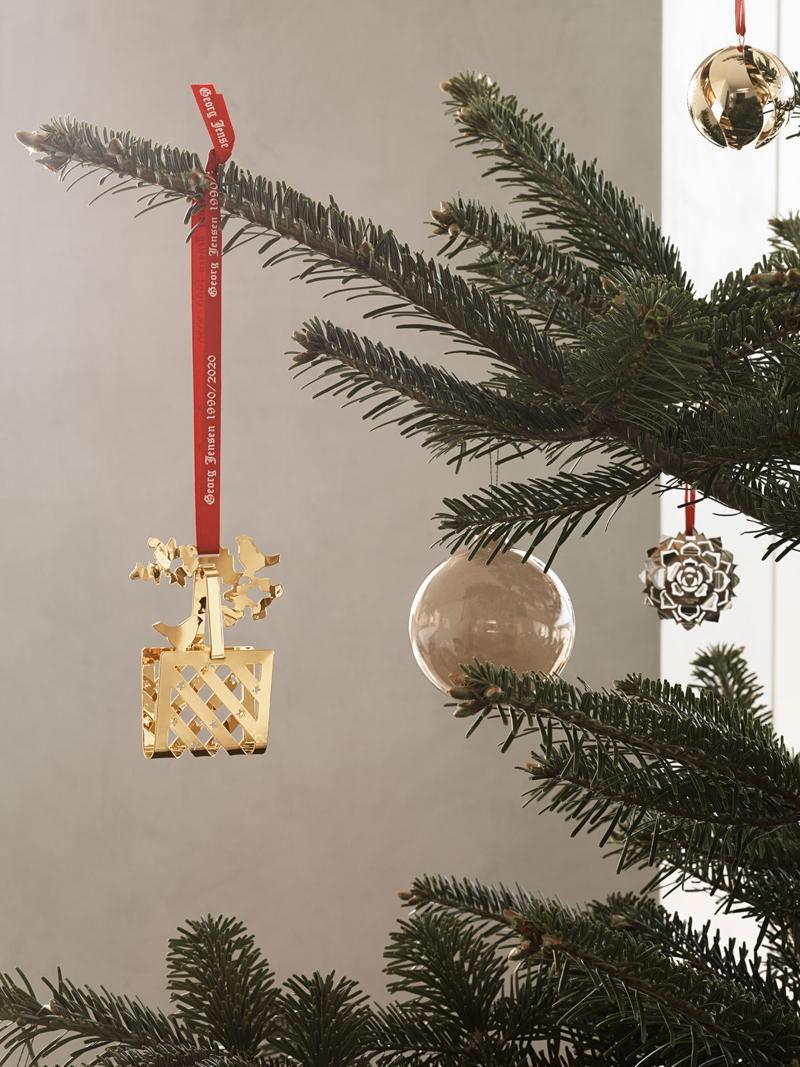 Georg Jensen Weihnachten 1990 2020 Mobile Korb gold
