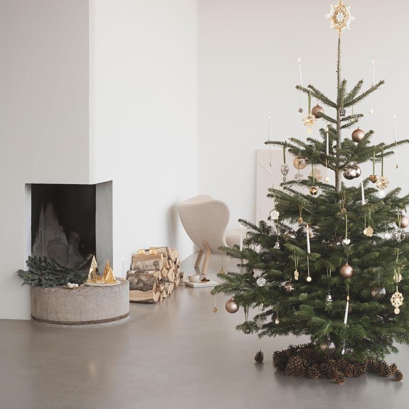Georg Jensen Weihnachten 2020 Mobile Eisblume gold scandi-weihnachten