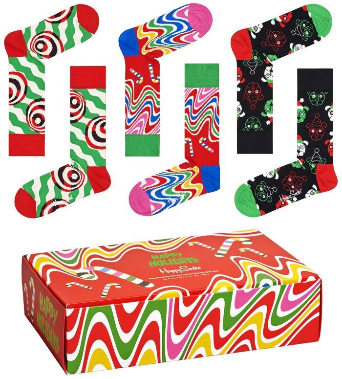 Happy Socks Unisex Struempfe Froehliche Weihnachten Geschenkbox 4 Stk weihnachtstrends-2020