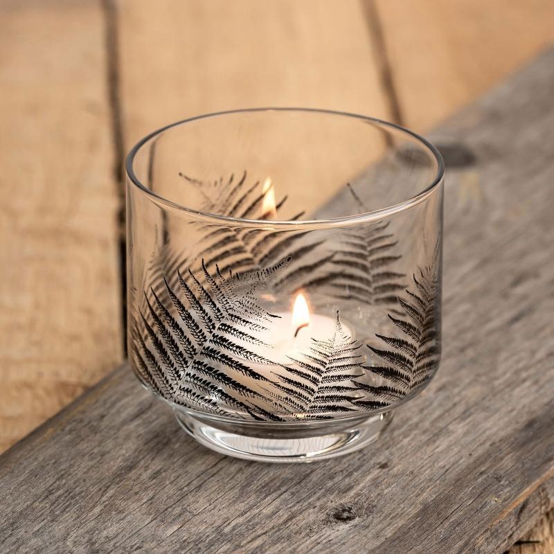 Muurla-Nordic-Der-Farn-Teelichtleuchter-Hoehe-8-cm