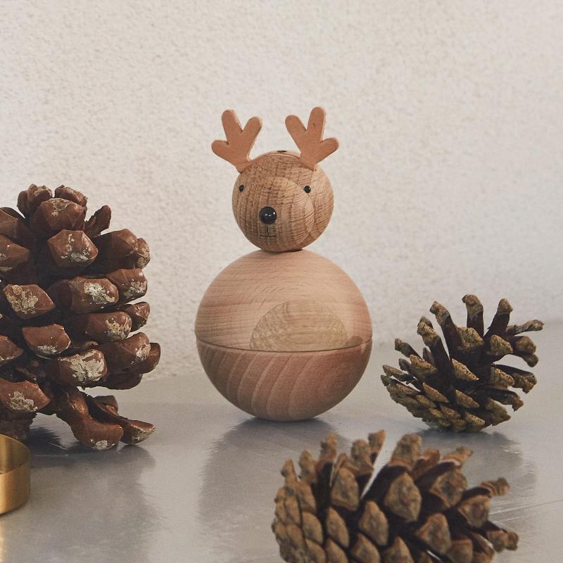Oyoy Living Weihnachten Baumschmuck Figur Elch Rudolf Hoehe 12 cm nachhaltigkeit