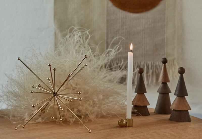 Oyoy Living Weihnachten Stern Hoehe 24 cm 23 cm goldfarbend