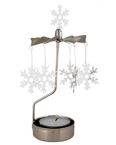 Pluto Drehlicht Schneeflocke