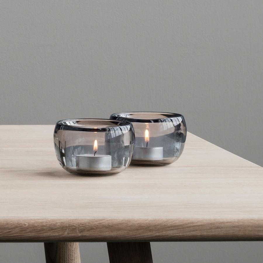 Stelton-Ora-Teelichtleuchter-Hoehe-6-cm-2-Stk-geraucht