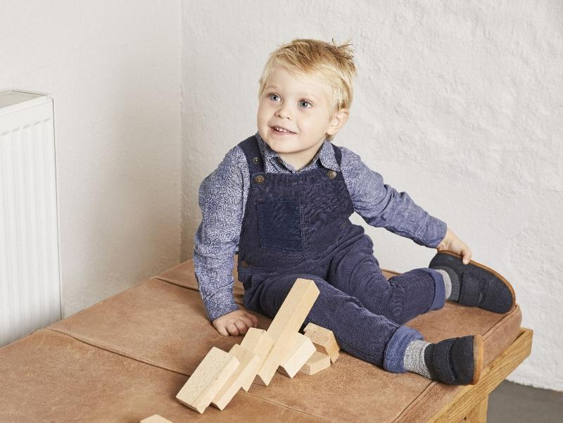 Viking Footwear Unisex Kinder Filzhausschuh mit Klettverschluss Hnoss