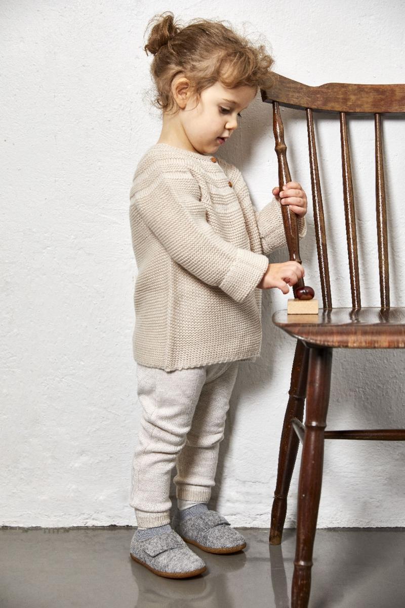 Viking Footwear Unisex Kinder Filzhausschuh mit Klettverschluss Njord filzschuhe