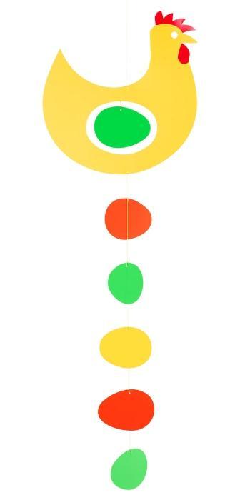 Flensted-Mobiles-Praemienhuhn-gelb