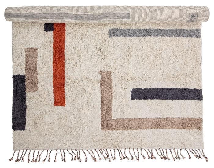 Bloomingville-Jue-Teppich-Baumwolle-140x200-cm-natur-rot-schwarz-braun