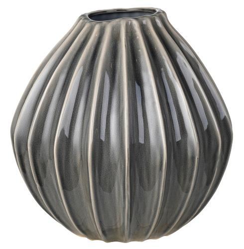 Broste Copenhagen Wide Vase Hoehe 30 cm smoked pearl