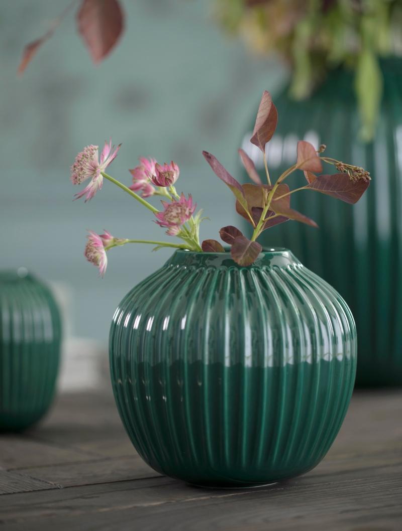 Kaehler Design Hammershoi Vase Hoehe 12,5 cm gruen