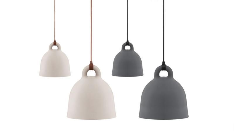Normann Copenhagen Bell Pendelleuchte 42 cm grau