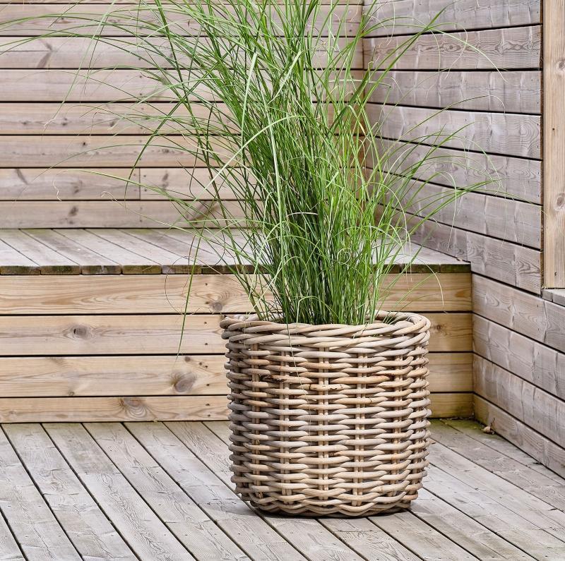 Villa Collection Pflanzenkorb Set 2 Stk Rattan nordischer-garten