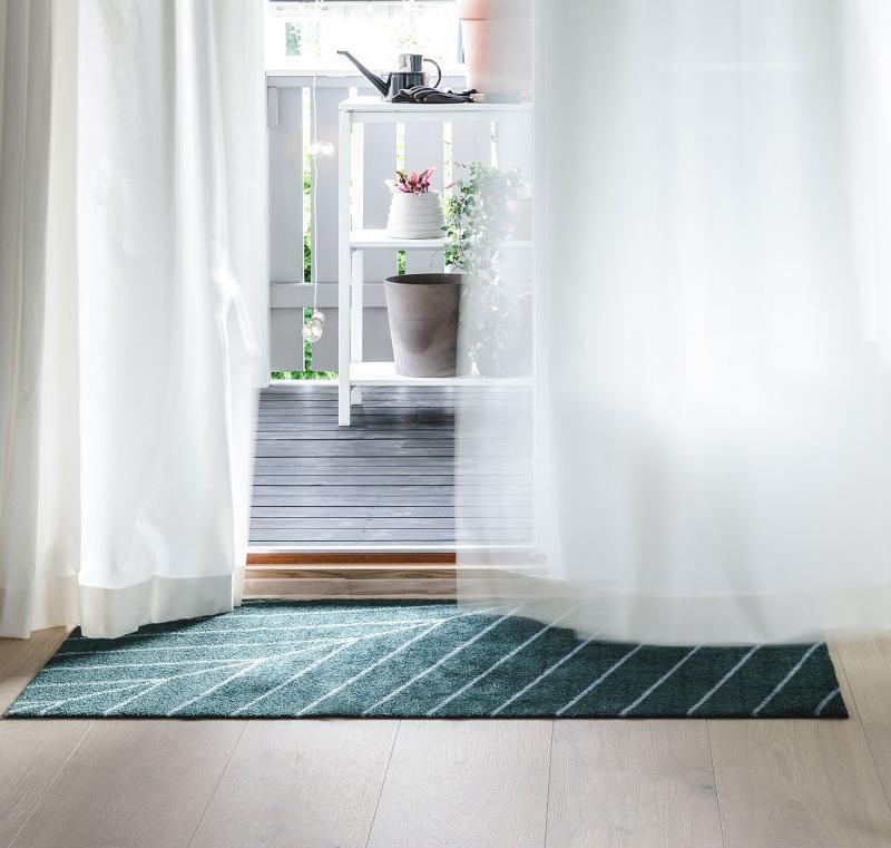 Heymat Eine Noon Fussmatte smaragdgruen 60x85 cm Dänischer Lifestyle
