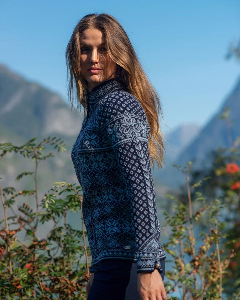 Dale of Norway Damen Pullover mit Kragen Peace Muttertag