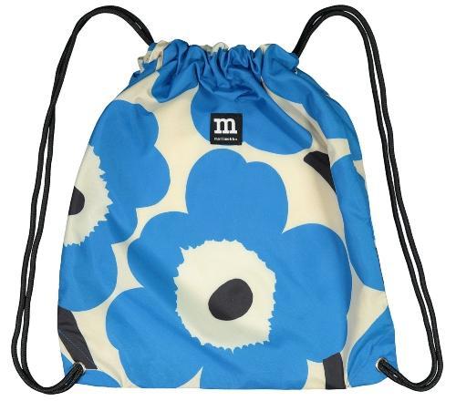 Marimekko Unikko Smarter Rucksack (faltbar) cremeweiss, blau Skandinavische Muster