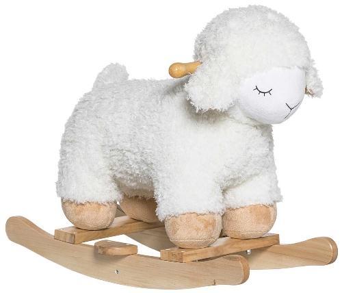 Bloomingville Schaukeltier Schaf weiss