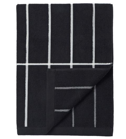 Marimekko Tiiliskivi Duschtuch 75x150 cm schwarz