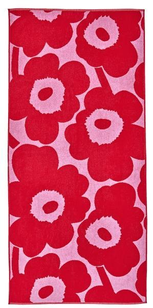 Marimekko Unikko 2021 Duschtuch 70x150 cm pink, rot handtuecher