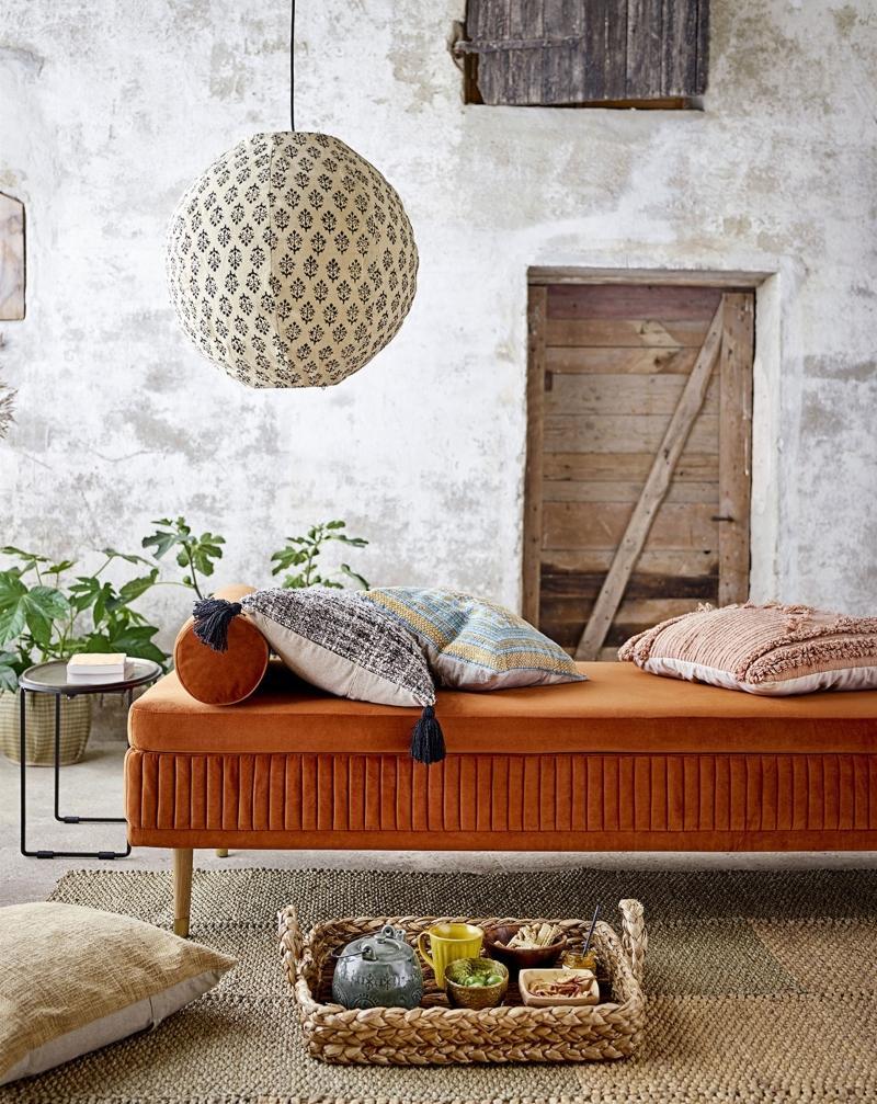 Bloomingville Jero Kissen 40x40 cm natur, tuerkis, mehrfarbig