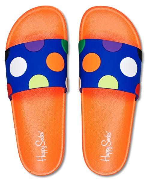 Happy Socks Unisex Badesandale Big Dot sandaletten-sommerliche-schuhe-aus-skandinavien