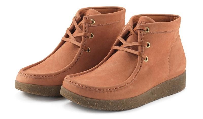 Nature Footwear Damen Schnuerstiefel niedrig Wildleder Emma