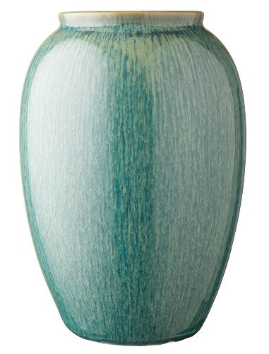 Bitz Steingut Vase Hoehe 25 cm gruen