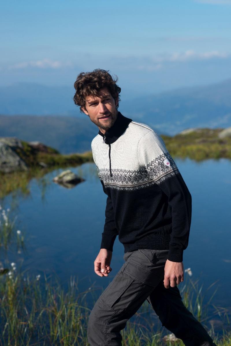 Dale of Norway Herren Merino Pullover mit Kragen Hovden scandi-mode