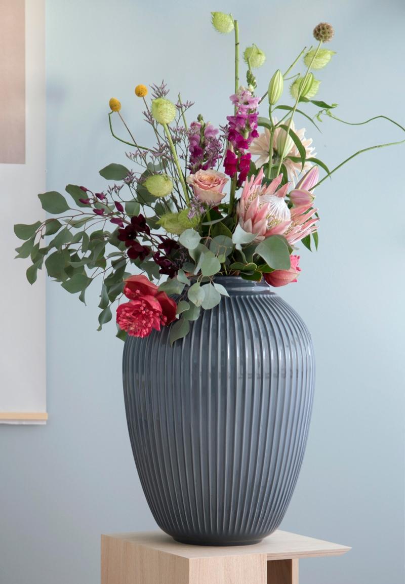 Kaehler Design Hammershoi Vase Hoehe 50 cm anthrazit