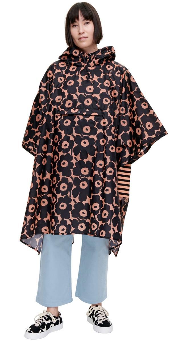 Marimekko Damen Regencape Unikko Pikkuinen braun, schwarz scandi-mode