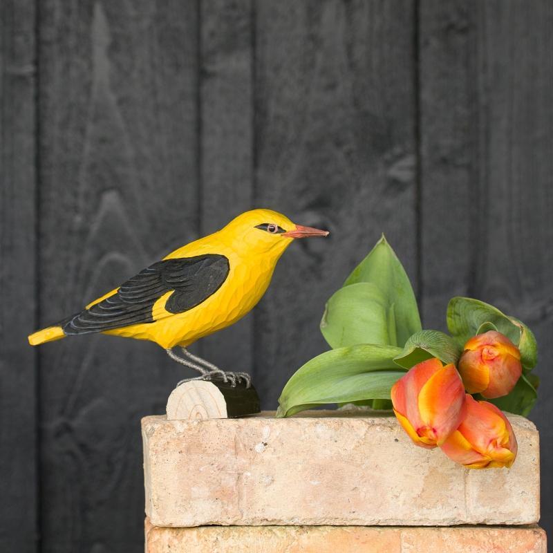 Wildlife Garden DecoBird Pirol handgeschnitzt