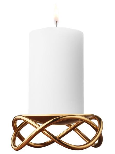 Georg Jensen Glow Kerzenstaender gold 10,5 cm