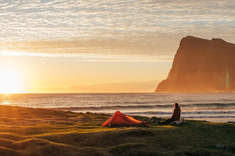 Kvalvika Beach Norwegen Wildcampen