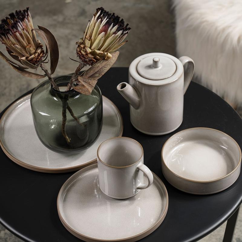 Villa Collection Teekanne 1,2 l weiss, grau