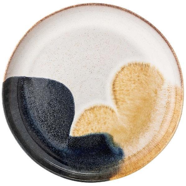 Bloomingville-Jules-Platte-OE-35-cm-gelb-schwarz-creme