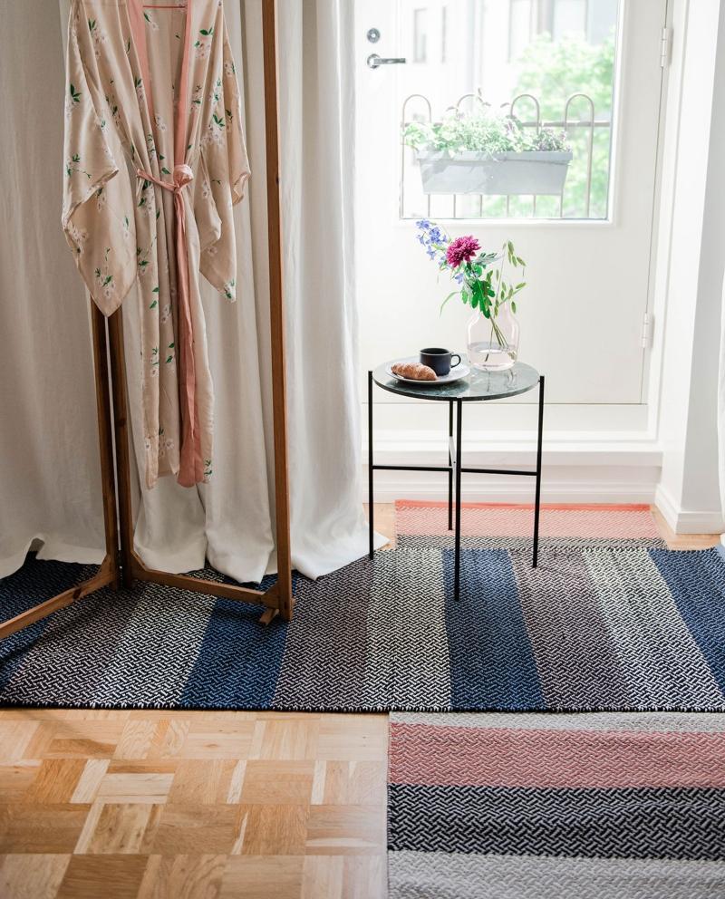 Finarte Tori Teppichlaeufer Baumwolle Polyester 70x140 cm skandinavische-teppiche