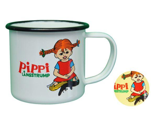 Opto Design Pippi Langstrumpf Sitzend Becher Emailliert 0