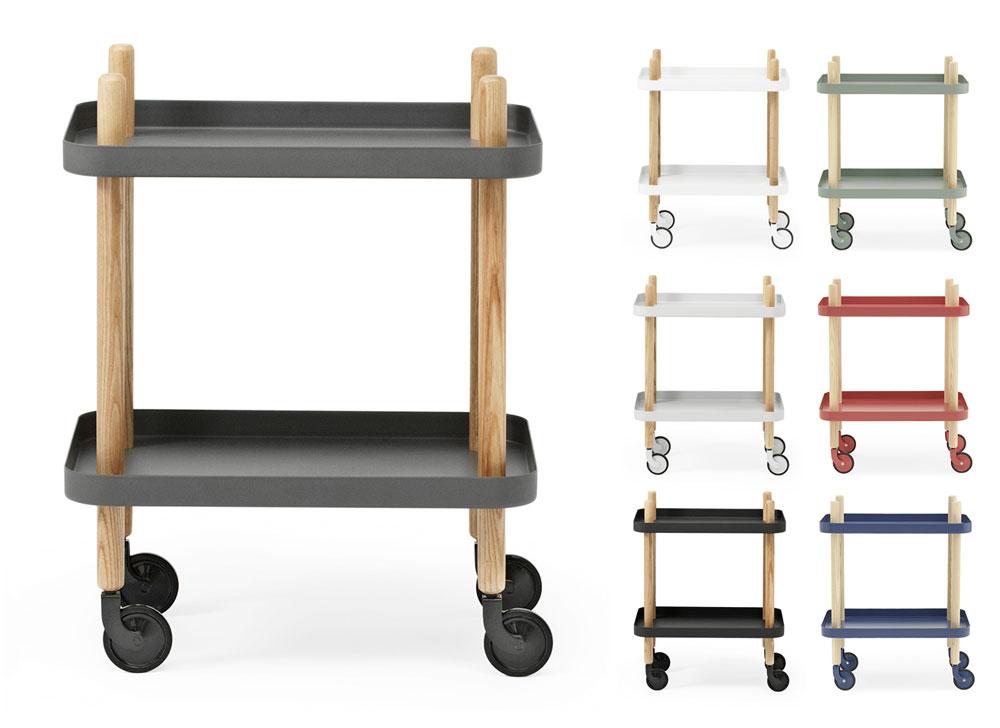normann copenhagen block servierwagen scandinavian lifestyle. Black Bedroom Furniture Sets. Home Design Ideas