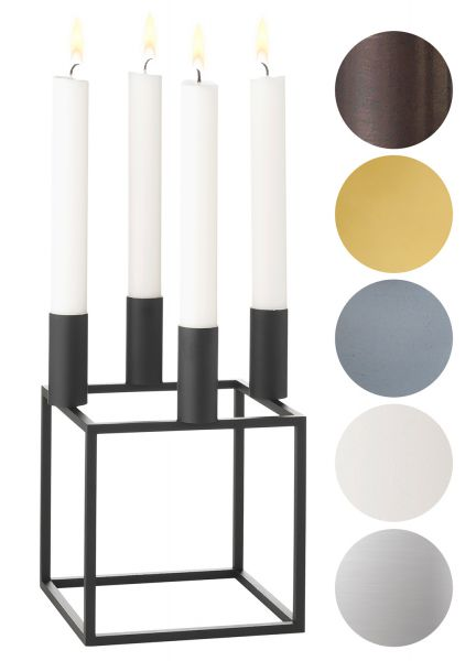 by lassen kubus 4 kerzenst nder h he 20 cm scandinavian. Black Bedroom Furniture Sets. Home Design Ideas