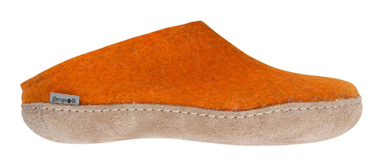 Glerups Modell B Filzpantoffel orange - 36 ppra4YFNo