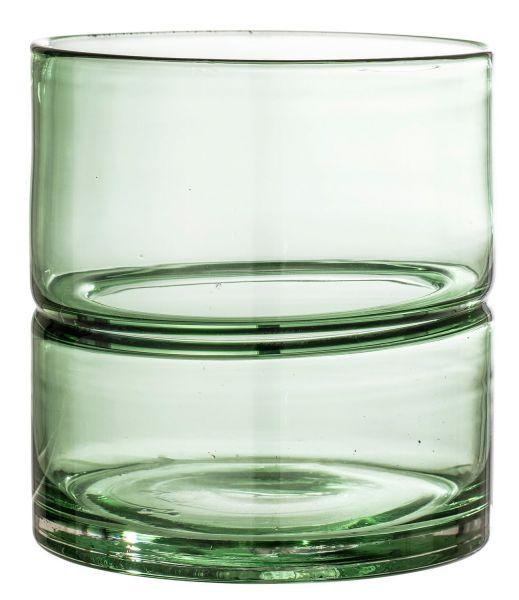 Bloomingville Vase Glas Grün Höhe 15 Cm Scandinavian Lifestyle