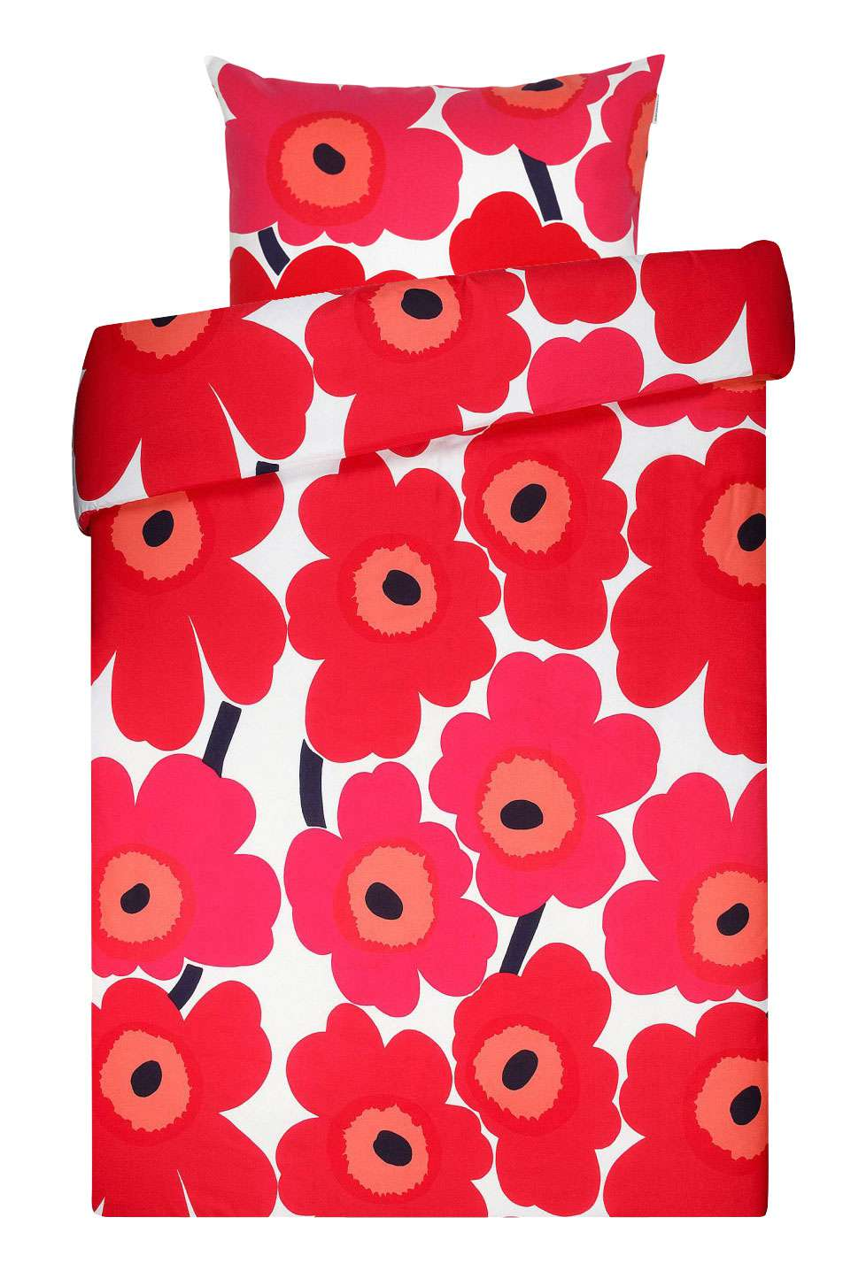 Marimekko Unikko Bettwäsche Rot Weiß 80x80cm135x200 Scandinavian